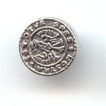 1960's European Look Crest Button
