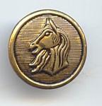 2 Piece Stamped Brass Horse Head Button