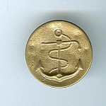 Old Brass Naval Button