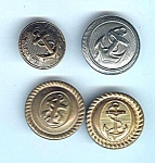Four Various Vintage Coast Guard Buttons