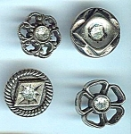 Four Various 1960's Rhinestone Buttons