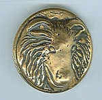 Large Brass Angora Goat Button