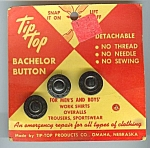 Mint On Card Tip Top Metal Bachelor Buttons