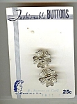 Mint On Card Filigree Metal Flower Buttons