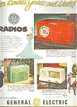 1951 General Electric Radios Ad Sheet