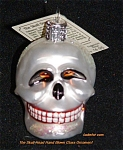 Halloween Skull Head By Old World Ornament