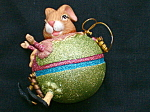 Easter Bunny Lt Green Ornament Katherines Collection