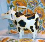 Cow Watering Can By Amici Steel Hand Painted Retired