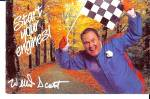 Willard Scott Start Your Engines Howard Johnson Postcar