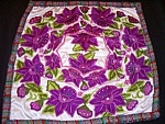 Guatemalan Pillow Hand Made Embroidered Flowers