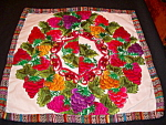 Guatemalan Pillow Hand Made Embroidered Fruit Flowers