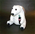 Coca Cola White Plush Bear