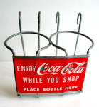Coke Bottle Holder, Vintage Metal