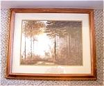 L. Coulson Deer Print, Framed