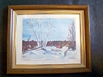 White Birches Picture, Framed, Under Glass