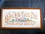 Give Us This Day Crosstitch Framed Under Glas