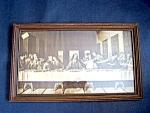 Christian Last Supper Framed Print, Under Glass