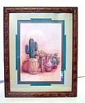 Framed Print Under Glass, Cactus