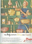 1954 Chase Brass & Copper Ad Sheet