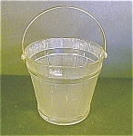 Clear Ice Bucket With Hammered Aluminum Handl