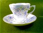Avon Blue Blossom Cup And Saucer, England
