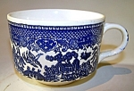 Cup Blue Willow Pattern, Decorated Handle