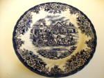 Blue And White Plate, Royal Stafford