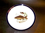 Schumann Porcelain Fish Pattern Plate, 9.5 In.
