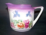 Pitcher, Creamer, Rose Floral Decorated