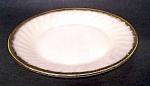 Dinner Plate, Swirl Ptn. Gold Trim, Fireking