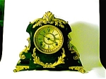 Cast Iron Enamelled Ansonia Mantle Clock