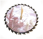 Battery Operated Saw Blade Clock