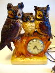 Owl Clock, Electric, Lanshire, Electric