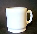 White Milk Glass Shaving Mug