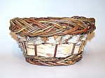 Basket, Birch Bark And Reed, Woven
