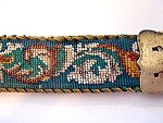 Silver Buckle, Beaded Leather Belt
