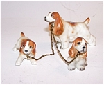 3 Spaniel Dogs On Chain
