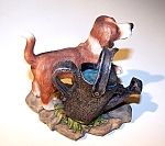 Brown & White Dog Figurine