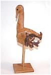 Burled Wood Ostrich Figurine