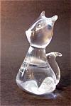 Clear Glass Cat, Kitten Figurine