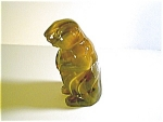 Imperial Glass Caramel Slag Groundhog Figurin
