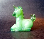 Lucky Unicorn Figurine Avocado Green Color
