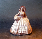 Boyd Art Glass Elizabeth Doll Figurine, Chocolate Carni