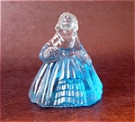 Boyd Art Glass Elizabeth Doll Figurine, Teal?