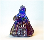 Boyd Art Glass Elizabeth Doll Figurine, Cobalt Blue Car