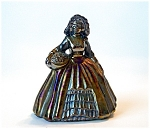 Boyd Art Glass Elizabeth Doll Figurine, Black Carnival