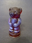 Cranberry Op. Glass Bear Figurine, Andy Series
