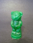 Andy The Bear, Green Slag Glass