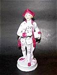 Porcelain Man Figurine, Glossy Finish