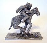 Pewter Figurine , Paul Revere,/ Horse